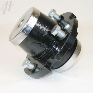 Cast Iron Hub with Bushings, Bearings, Races and Weed Covers